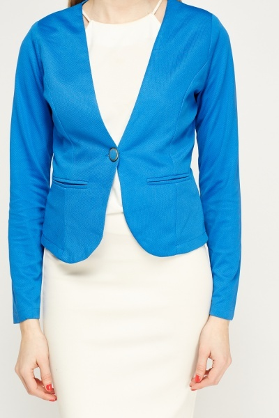 Textured Formal Blazer