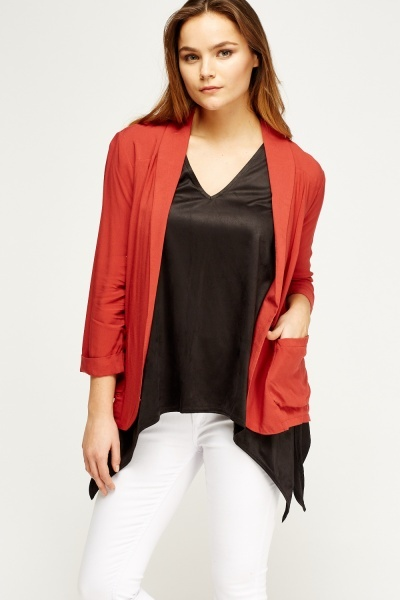 Thin Rust Cardigan