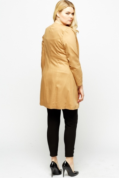 Satin Long Line Jacket