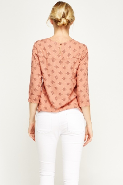Dusty Pink Printed Top