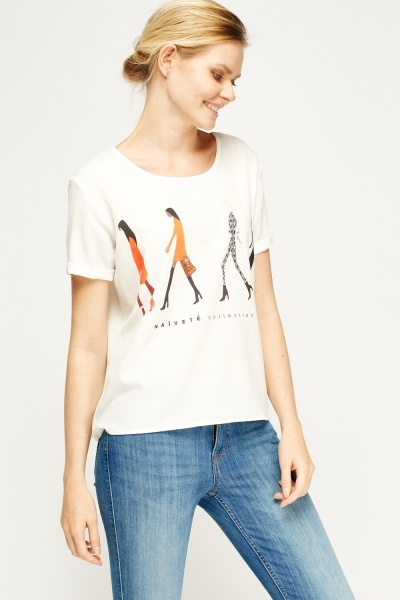 Fashion Girl White Box Top