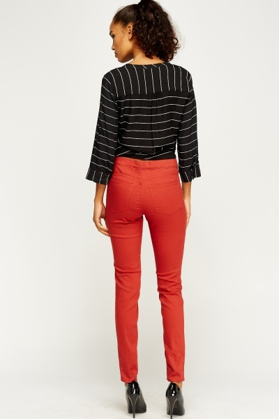 Brick Slim Leg Trousers