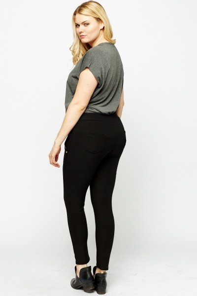 High Waisted Encrusted Pocket Trousers
