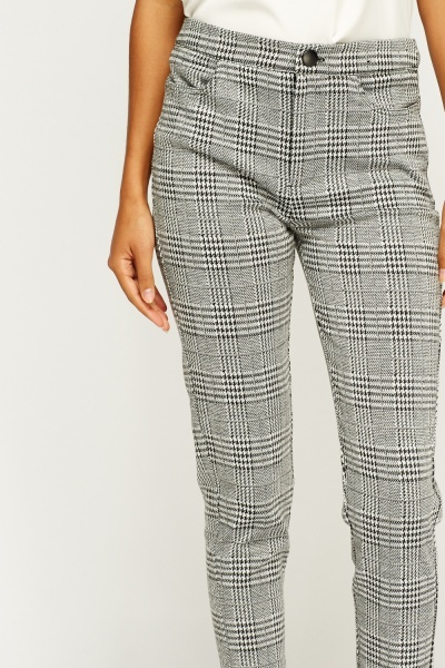 Houndstooth Formal Trousers