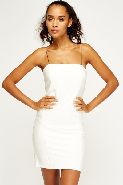 White Mini Bodycon Dress