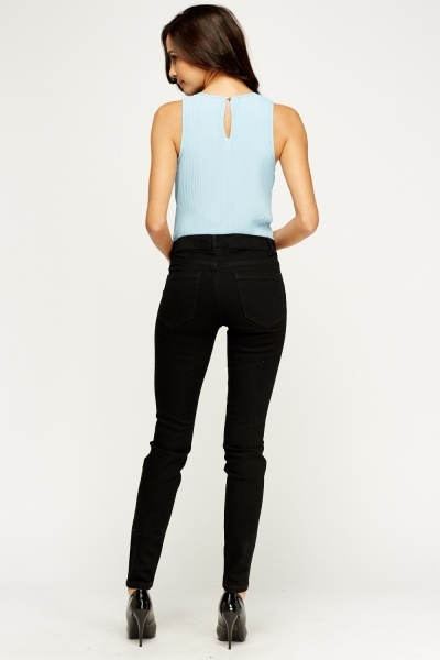 Denim Black Skinny Jeans