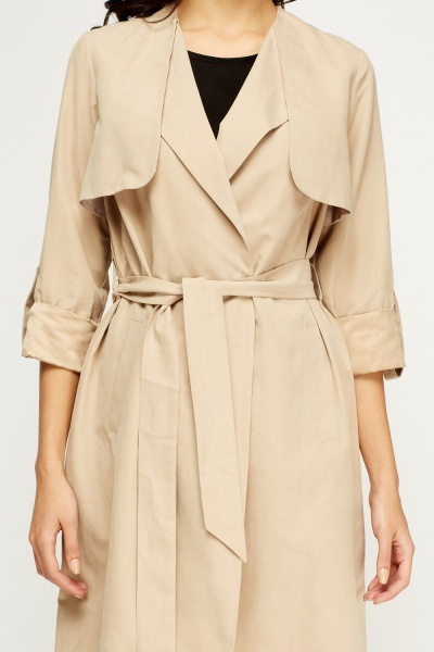 Open Front Belted Stone Jacket