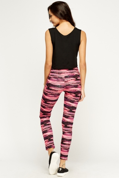 Speckled Print Fitness Leggings
