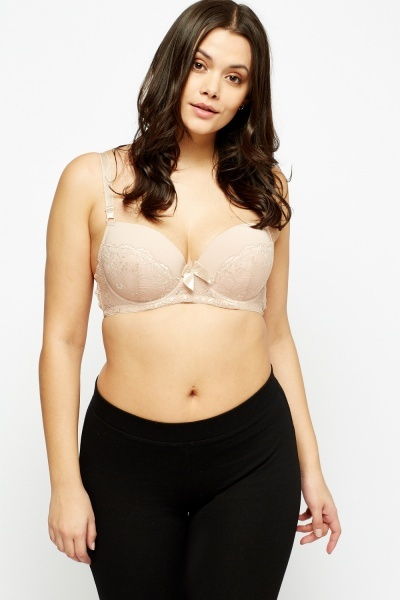 Laced Overlay Padded Bra