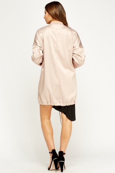 Nude Satin Jacket