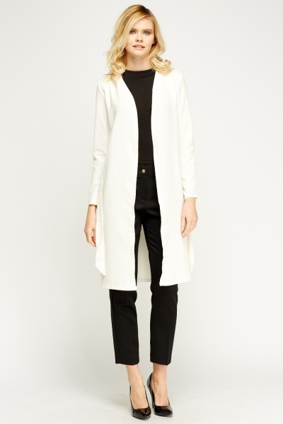 Boyfriend Tied Longline Jacket