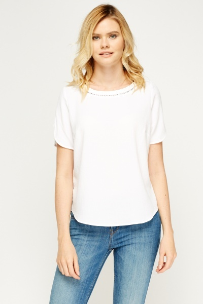 Laser Cut Trim White Top