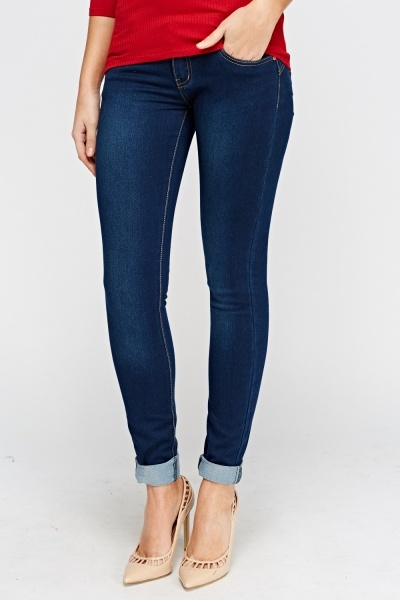Blue Skinny Fit Denim Jeans
