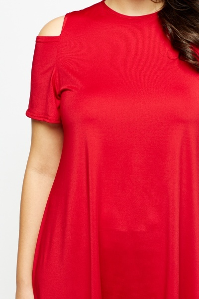 Cold Shoulder Asymmetric Tunic