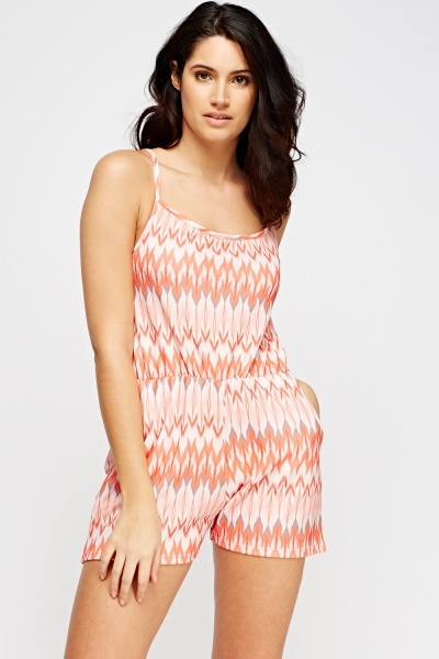 Printed Short Playsuit