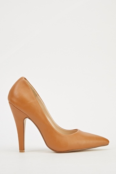 Court Faux Leather Heels
