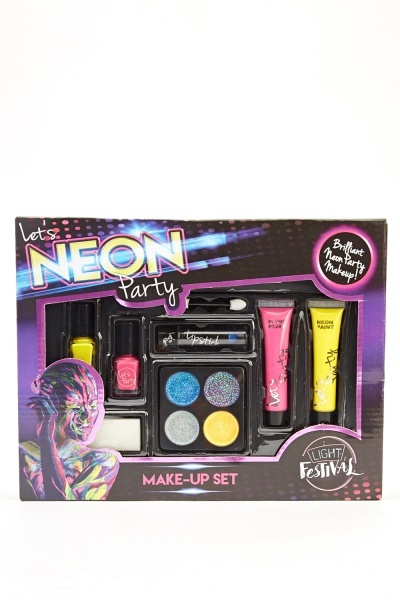 Neon Party Make - Up Set - Pink/Multi Or Blue/Multi - Just U00a35