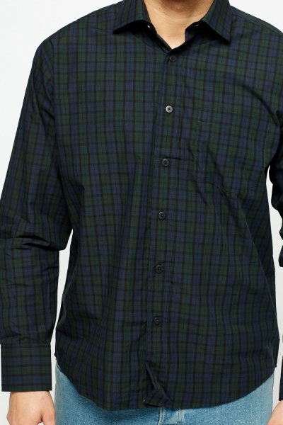 Checked Green Casual Shirt
