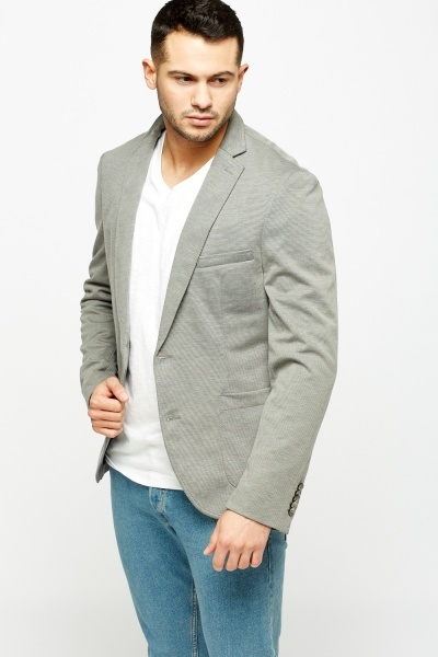 Speckled Grey Casual Jacket