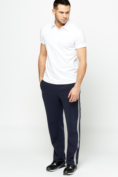 Striped Side Navy Joggers