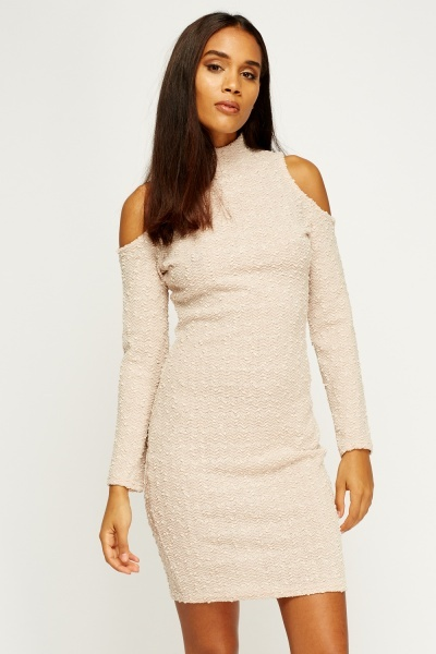 Cold Shoulder Sequin Dress