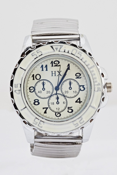 Mens Silver Chronograph Watch