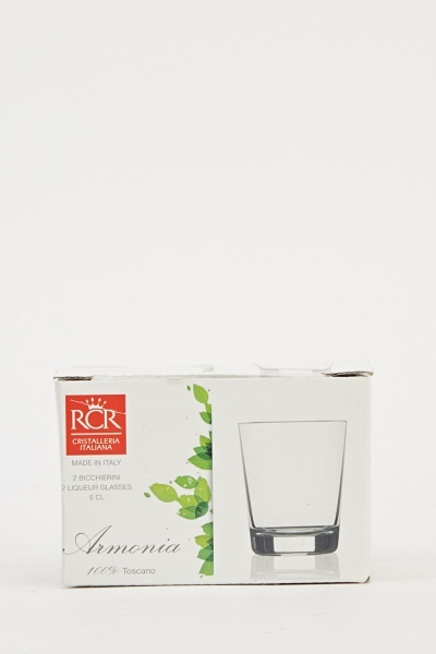 Pack Of 2 Liqueur Glasses
