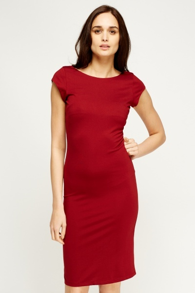 V-Back Bodycon Dress