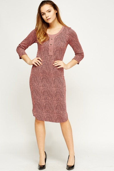 Zig Zag Midi Dress