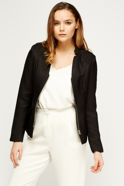 Zip Up Textured Jacket