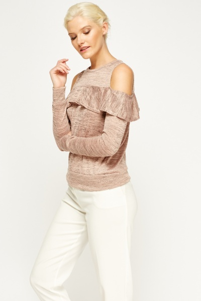 Cold Shoulder Flared Top