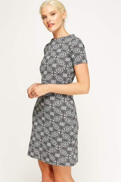 Kaleidoscope Printed Dress