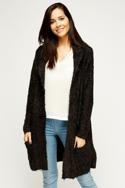 Bubble Knit Hooded Cardigan
