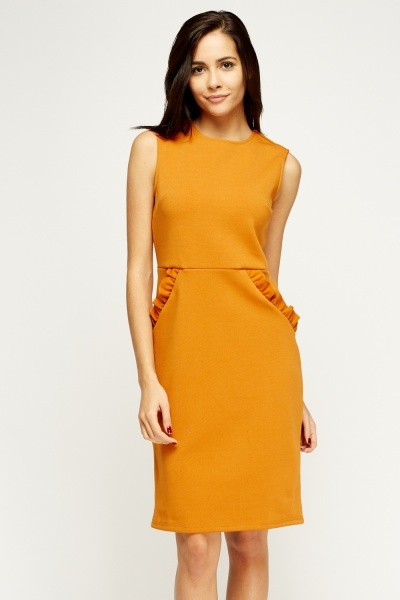 Flare Detail Shift Dress