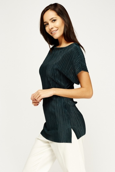 Forest Green Pleated Top