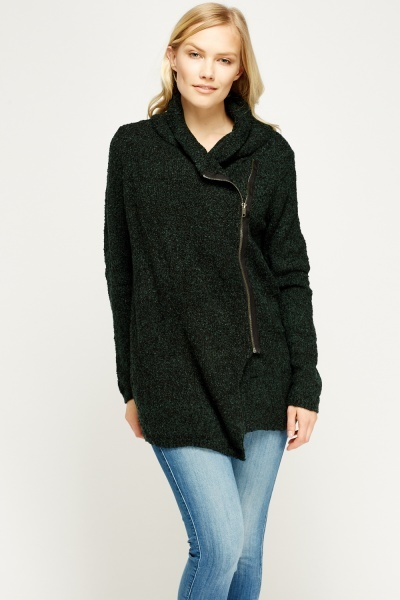 Bobble Knit Zipped Jacket