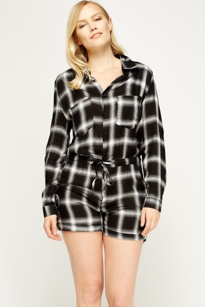 Check Grid Playsuit