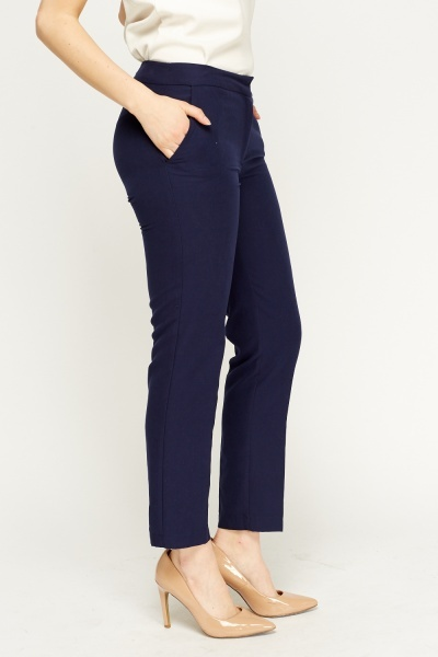Straight Leg Cigarette Trousers