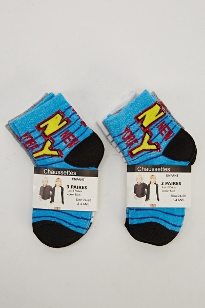 Pack Of 6 Print Socks