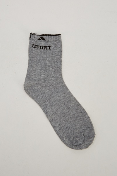 Pack Of 6 Sports Socks