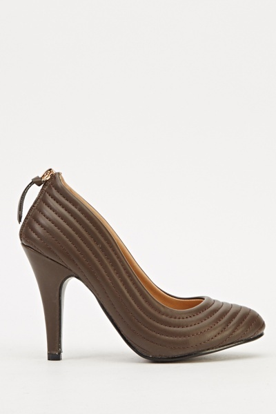 Zip Back Court Heels