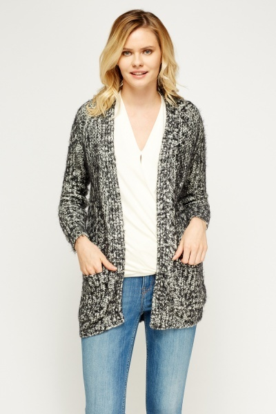 Eyelash Speckled Cardigan
