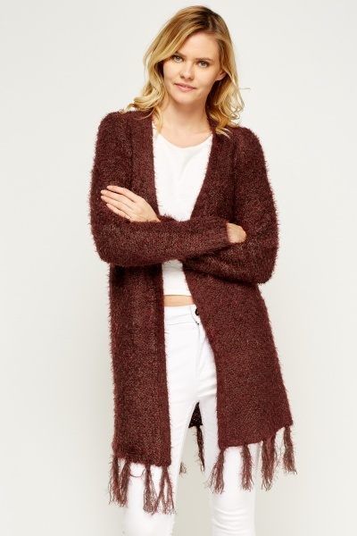 Eyelash Tasseled Cardigan