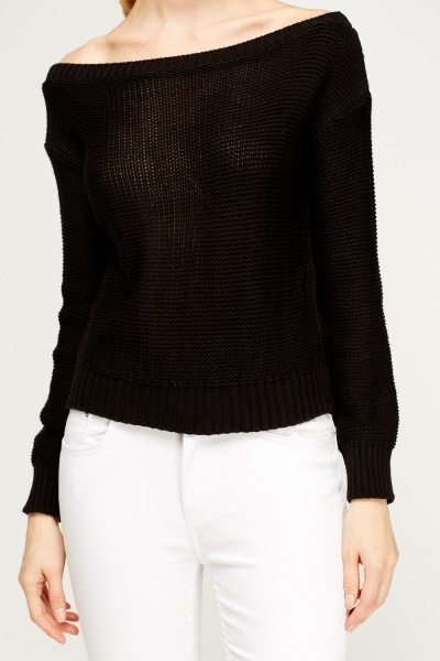 Loose Knit Off Shoulder Jumper