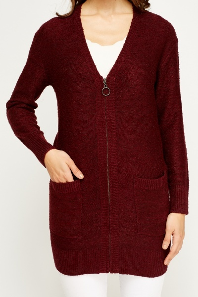 Knitted Zip Cardigan