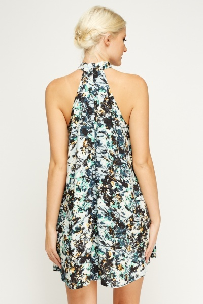 Halter Neck Printed Dress