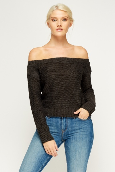 Off Shoulder Knit Jumper