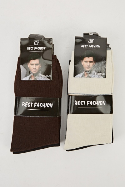 Pack Of 6 Mens Casual Socks