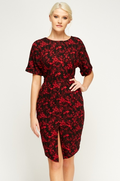 Printed Wide Sleeve Dress