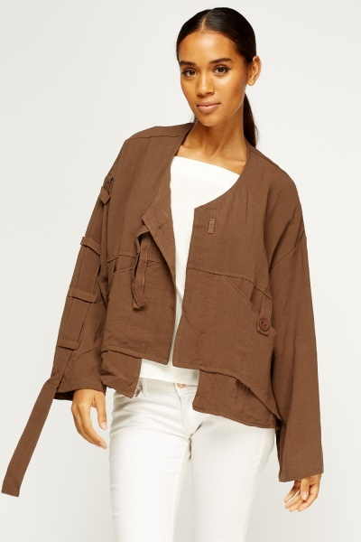 Asymmetric Cropped Jacket